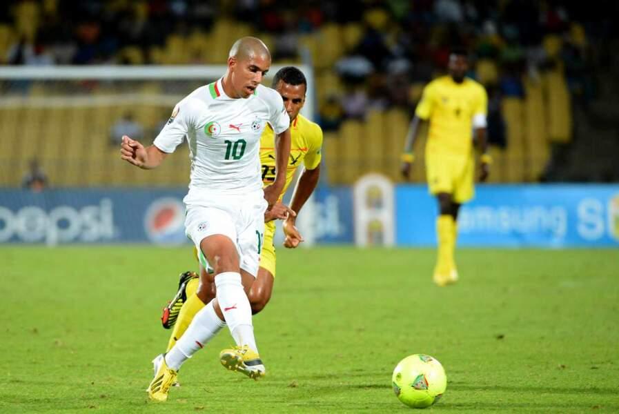 Le jeune footballeur algérien Sofiane Feghouli, 24 ans