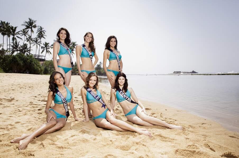 Miss Poitou-Charentes, Miss Rhône-Alpes, Miss Réunion, Miss Nouvelle-Calédonie, Miss Centre et Miss Saint-Pierre...