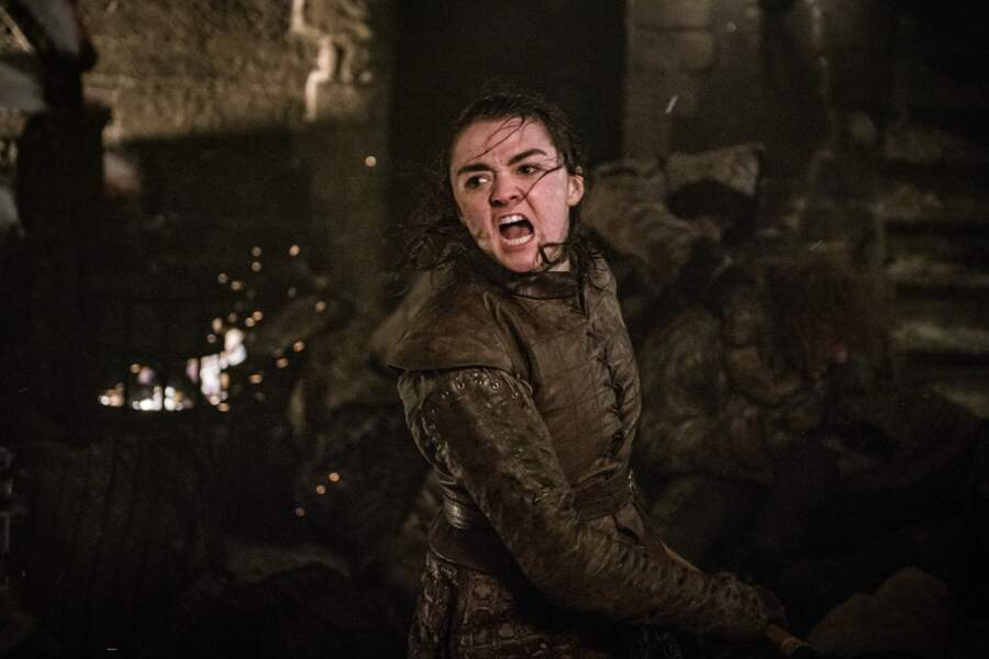 Arya Stark est l'héroïne de la bataille de Winterfell, tuant le Roi de la nuit