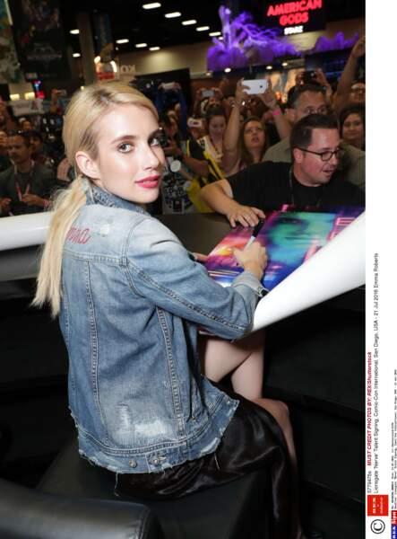 Emma Roberts est venue présenter son nouveau film Nerve, en salles le 24 août