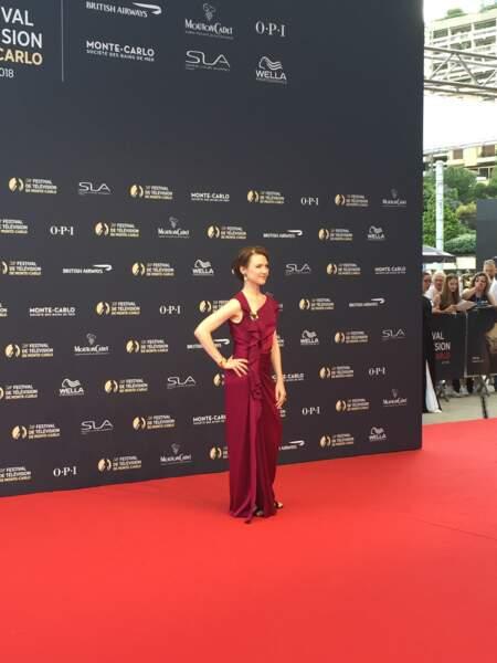 Odile Vuillemin, une fidèle du Festival de télévision de Monte-Carlo
