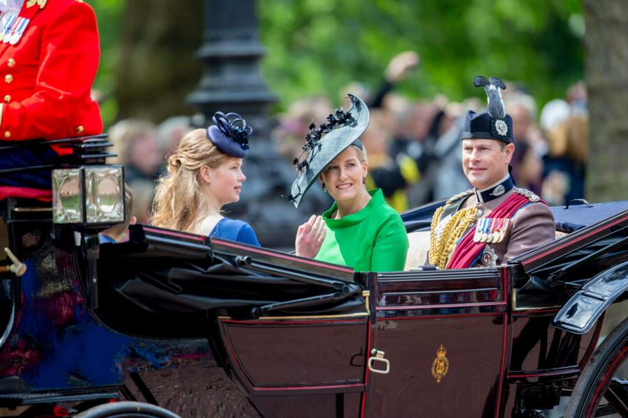 Lady Louise Windsor avec ses parents, le prince Edward et Sophie, comtesse de Wessex