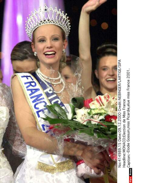 Miss France 2001 : Elodie Gossuin (Miss Picardie)