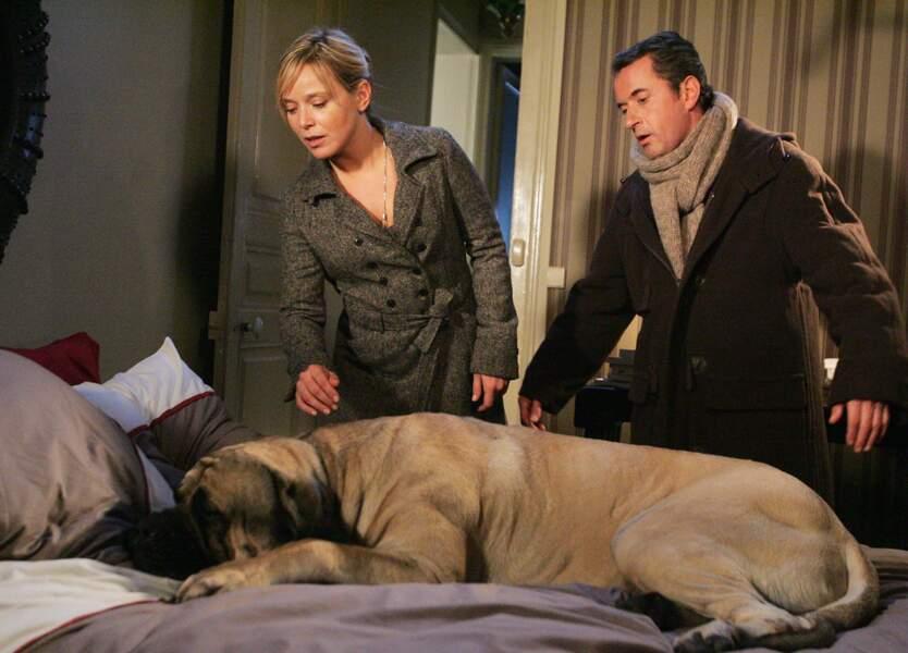Christophe Dechavanne (Une famille en or) a lui tenu le rôle principal de la fiction Hubert et le chien (TF1)