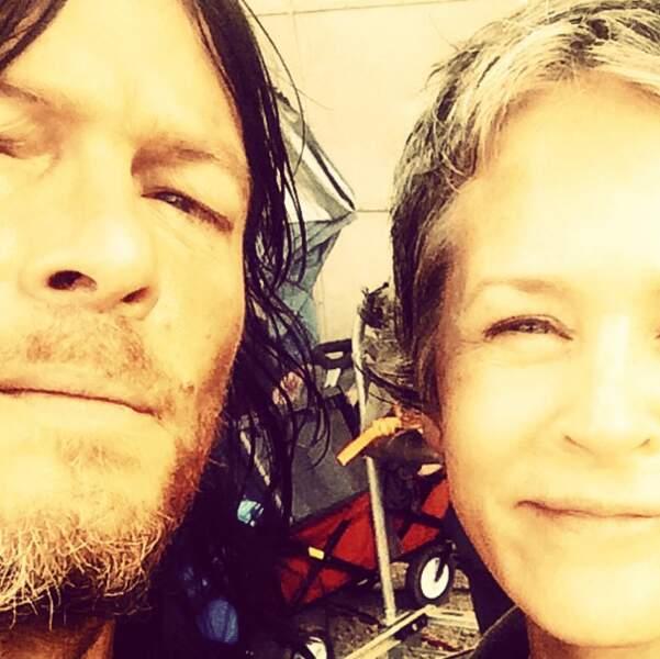 Daryl et Carol (Melissa McBride), inséparables à la ville comme à l'écran