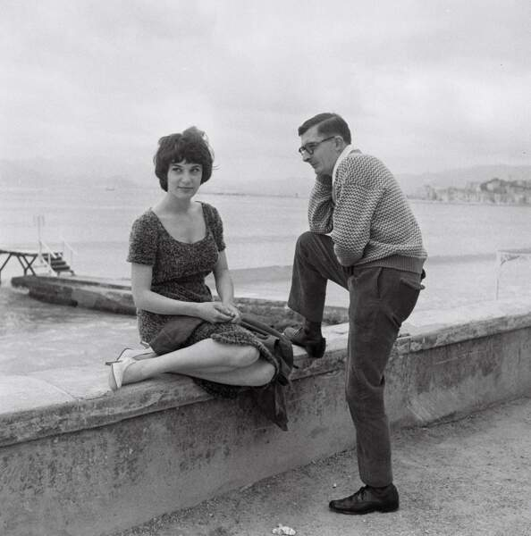 Avec Claude Chabrol dans les années 50.