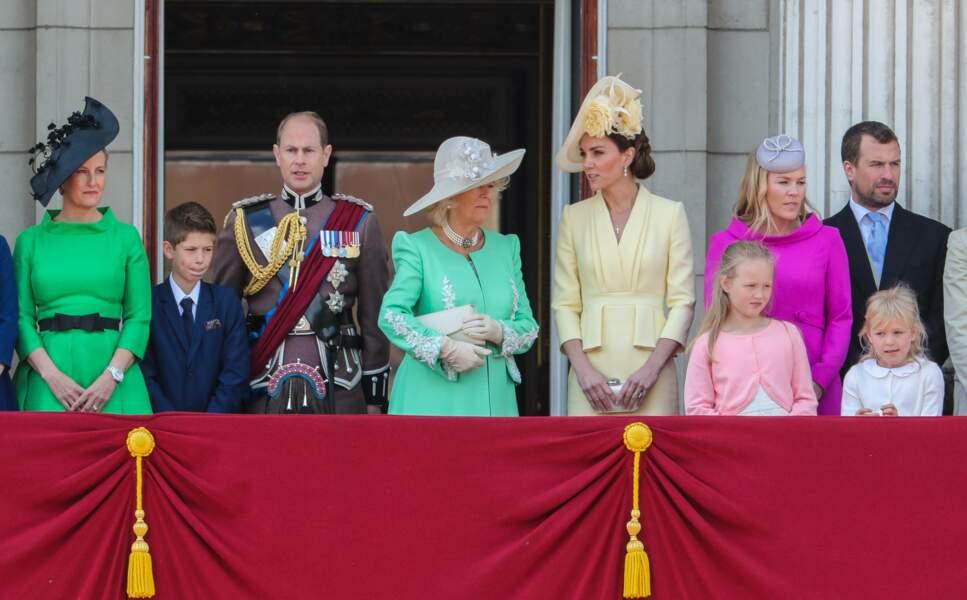 La famille royale était réunie à Buckingham ce samedi 8 juin pour Trooping the Colour