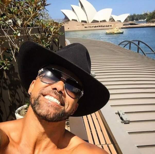 Shemar Moore a fait son plus beau sourire à Melbourne.