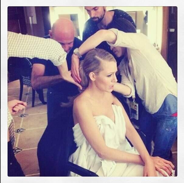 Direction Cannes avec l'égérie L'Oréal, Blake Lively, absolument divine en plein maquillage