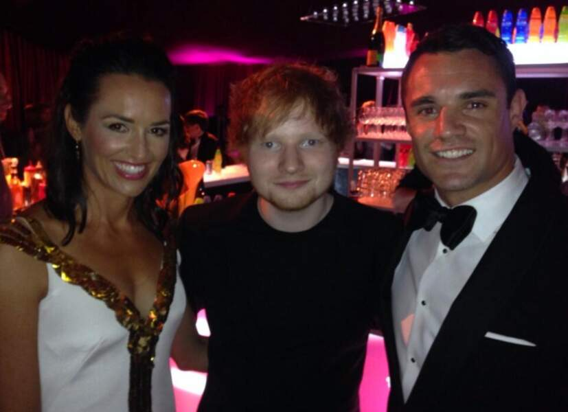 On ne sait pas qui des Carter ou du chanteur Ed Sheeran est le plus intimidé
