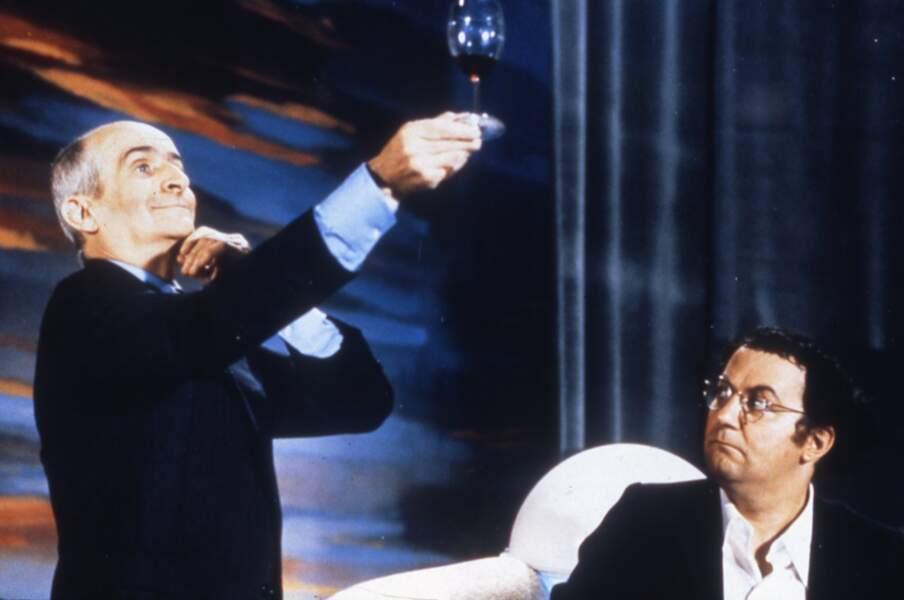 """En 1976, Claude Zidi réunit à l'écran Coluche et le grand Louis de Funès dans """"L'aile ou la cuisse"""""""