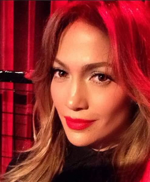 Jennifer Lopez maquillée...