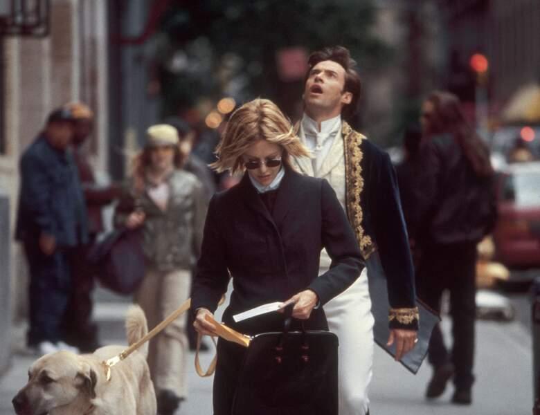 Il n'y a bien que Hugh Jackman pour incarner un gentleman du 19è siècle perdu à notre époque (Kate & Leopold)