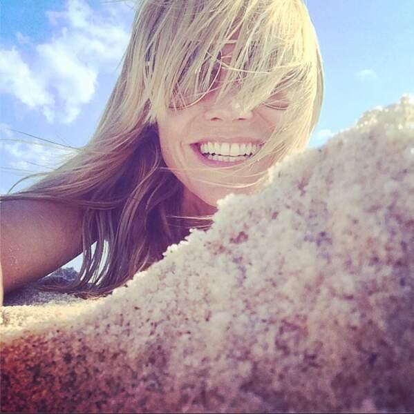 Maillot de bain ou topless pour Heidi Klum ? On ne saura pas !
