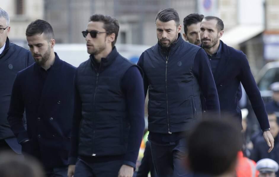 D'autres joueurs de la Juventus Turin étaient présents pour saluer la mémoire de leur confrère