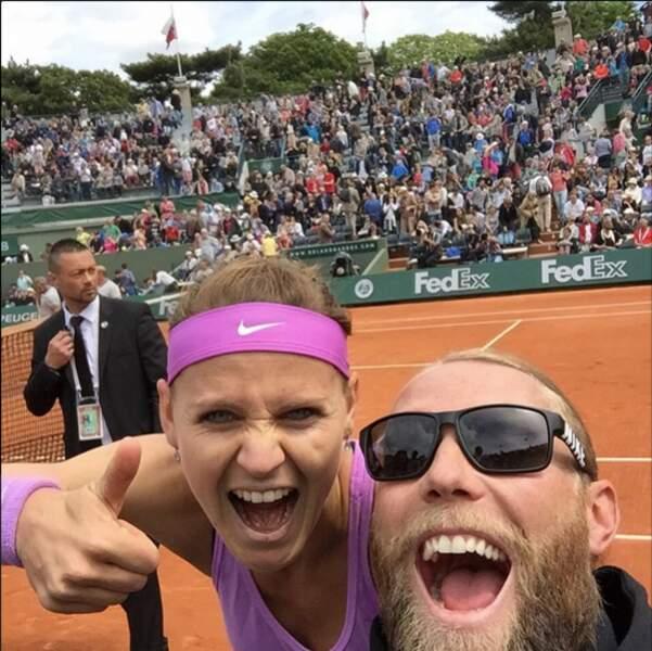 Roland-Garros, c'est aussi des selfies sur le court...
