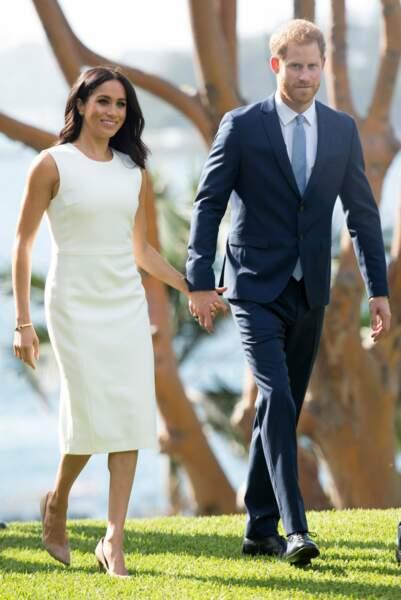 Le couple princier tout sourire lors de leur première sortie officielle depuis l'annonce de l'heureux événement