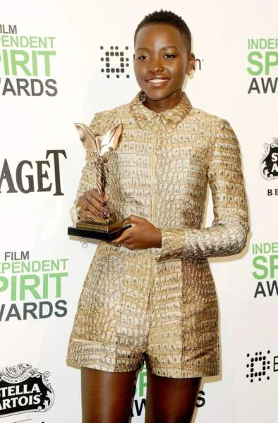 Lupita Nyong'o récompensée aux Independent Spirit Awards (2014)