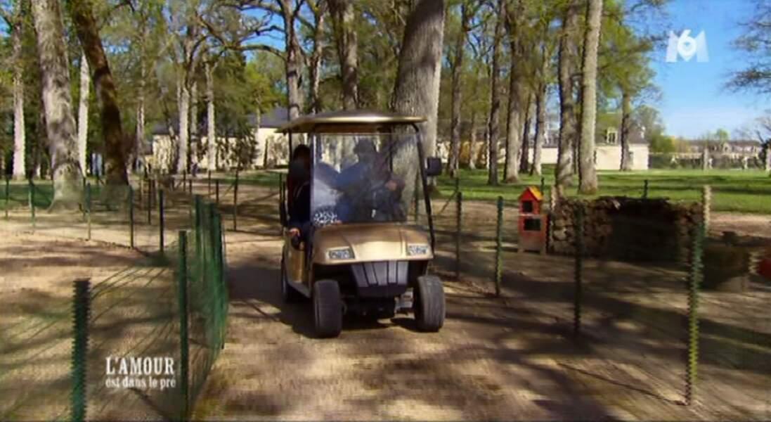 Carmen avait envie de faire de la voiturette, Thierry s'est exécuté !