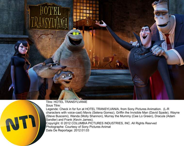 L'Hotel Transylvania (2012) : un palace très acceuillant...