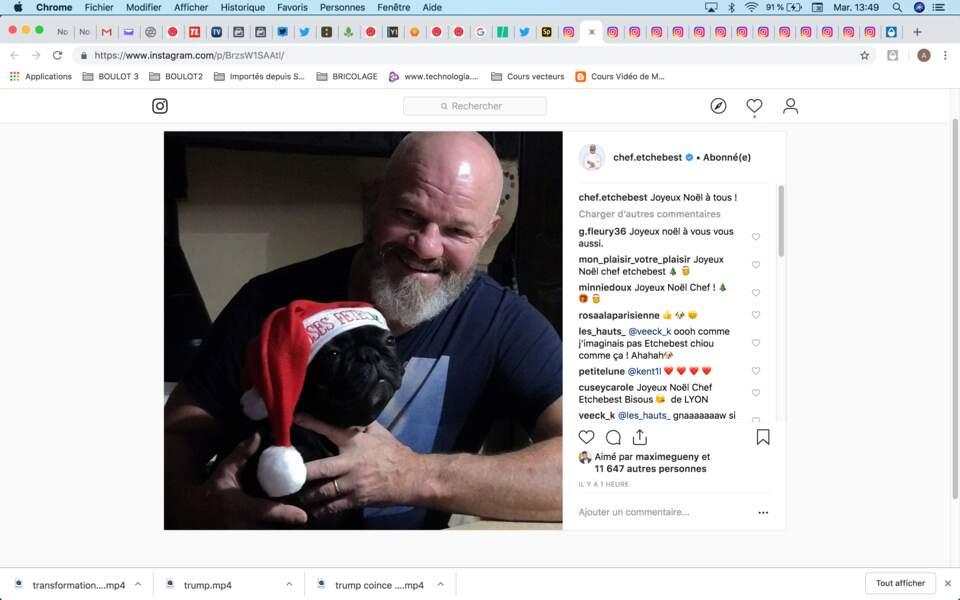 Philippe Etchebest a mis son chien à l'honneur aussi