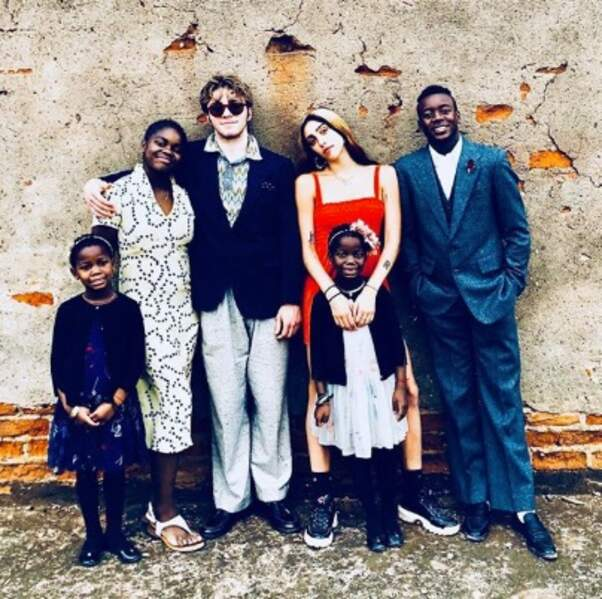 Et la tribu de Madonna était réunie au Malawi.
