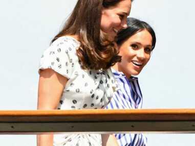 Meghan Markle et Kate Middleton très complices à Wimbledon