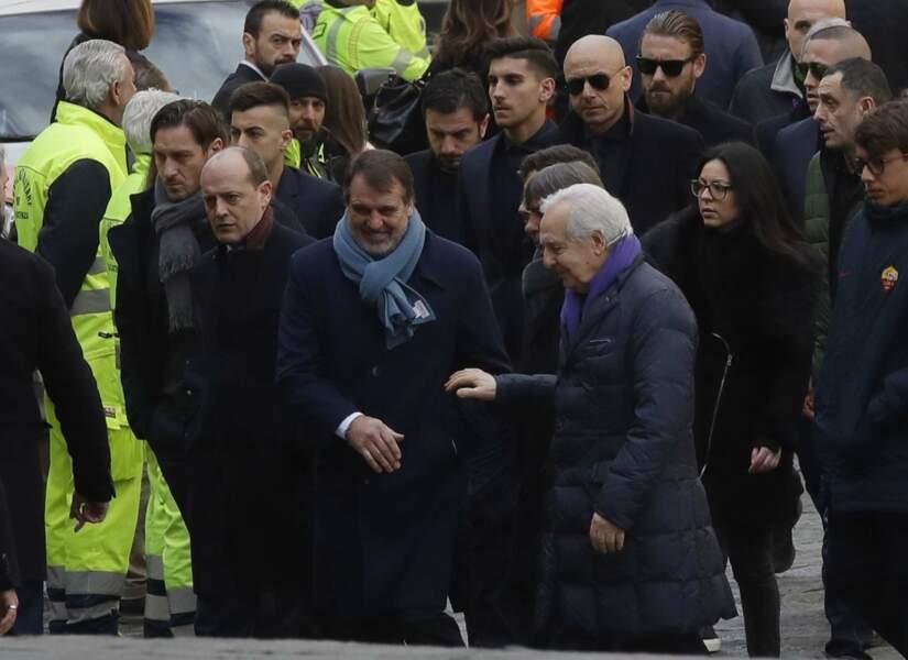 La légende de la Roma Francesco Totti (à gauche)