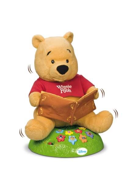 Et on termine par l'adorable Winnie l'Ourson, conteur d'histoire