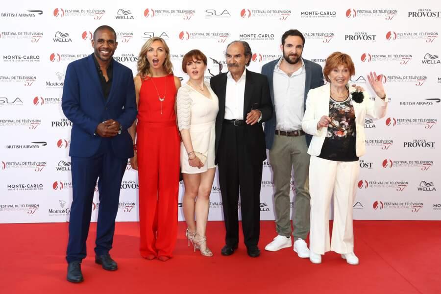 L'équipe de Scènes de Ménage :  Gérard Hernandez, Amélie Etasse, Loup Denis Elion, Marion Game, David Mora, Valérie