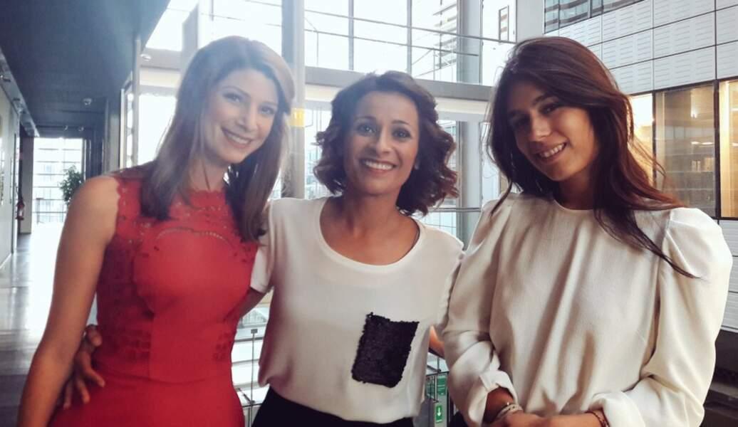 A France Télévisions, elle peut compter sur ses copines, Myriam Bounafaa et Emilie Tran Nguyen...