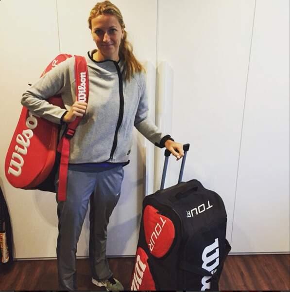 Petra Kvitova fait ses valises pour Roland-Garros...