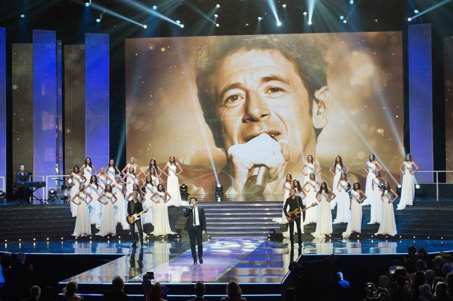 Lors de la soirée Miss France, Patrick Bruel a pris la grosse tête... sur le grand écran