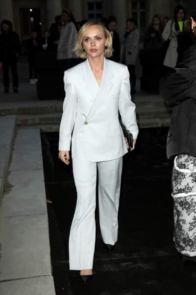 Christina Ricci chez Dior Homme