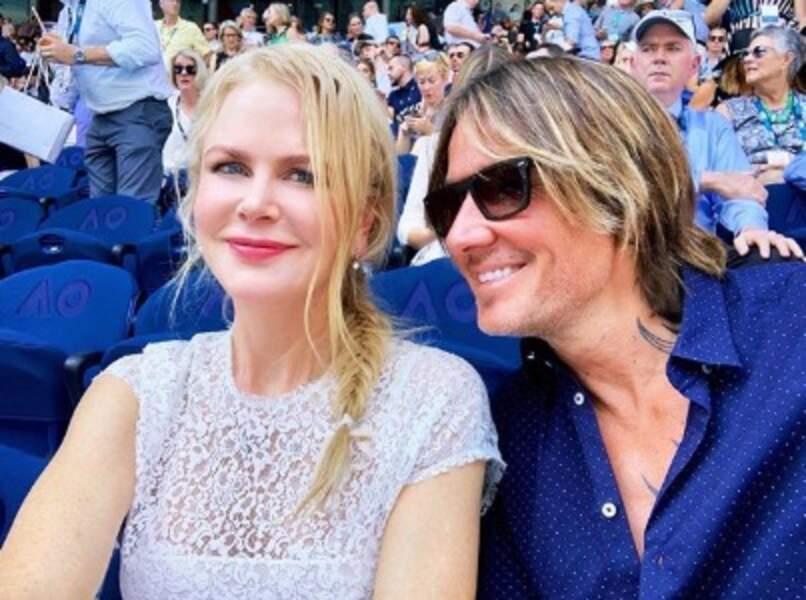 Nicole Kidman et son mari Keith aiment le tennis, mais depuis les tribunes seulement.