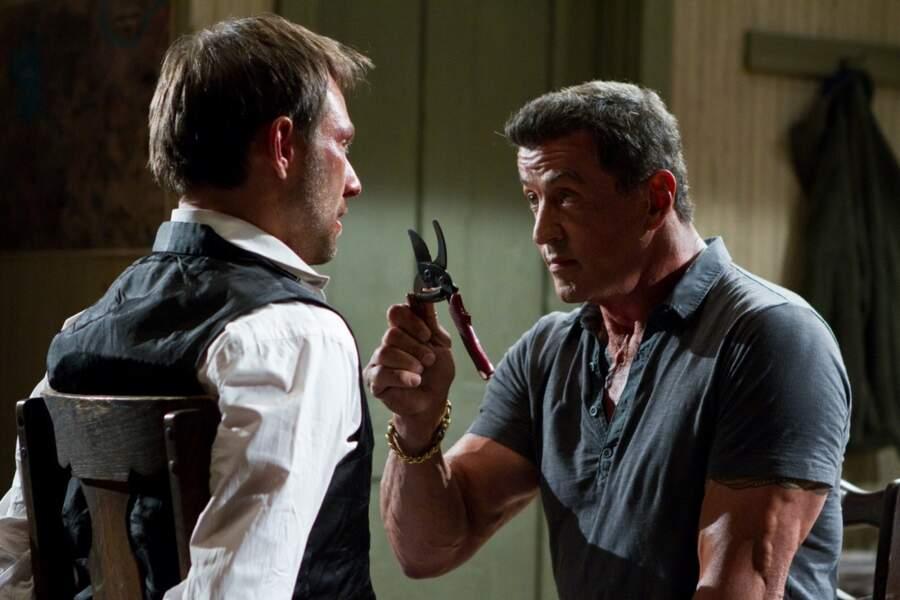 Du plomb dans la tête (2012) : Christian Slater, Sylvester Stallone