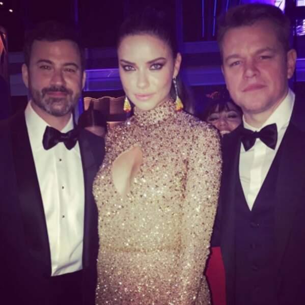 Ce week-end, c'était aussi les Oscars. Regardez donc ces petits veinards de Jimmy Kimmel et Matt Damon !