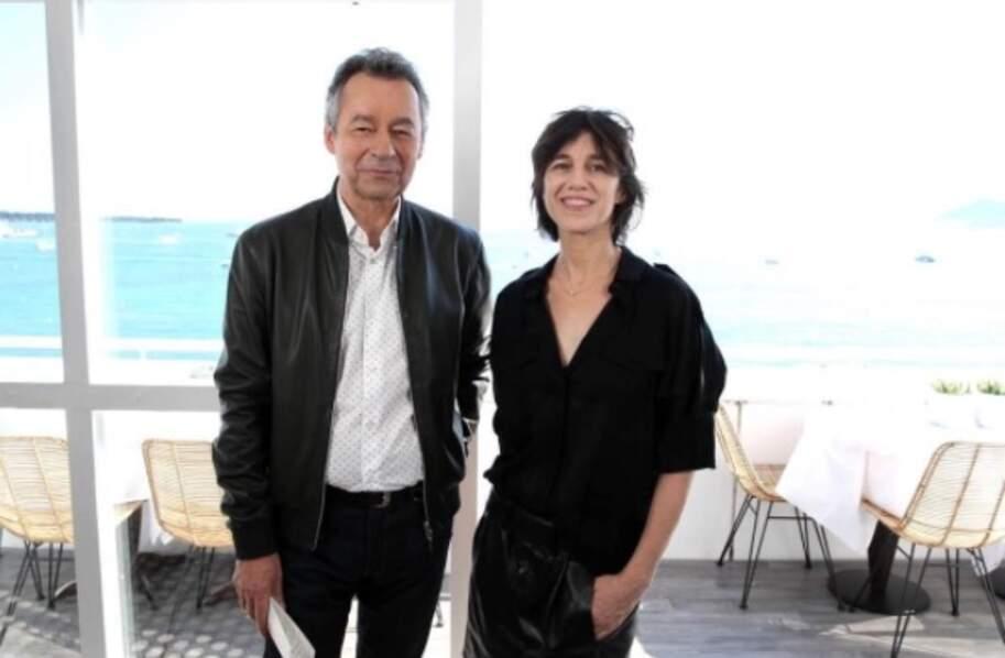 Michel Denisot, lui a posé avec Charlotte Gainsbourg, sur Instagram