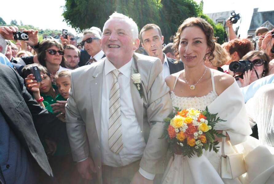 La foule pour le mariage de Thierry et Annie