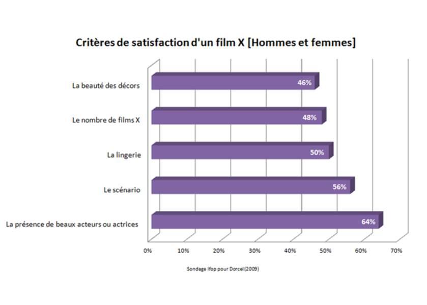 Les critères pour déterminer qu'un film X est bon, selon le consommateur
