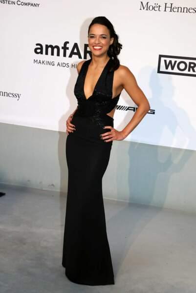 Michelle Rodriguez à la soirée de l'AmfAR à Antibes, le 22 mai 2014