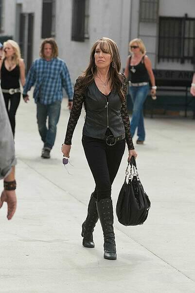Katey Sagal, alias Gemma Teller Morrow...