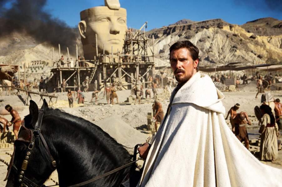 Fin 2014, Christian Bale devient Moïse dans Exodus de Ridley Scott