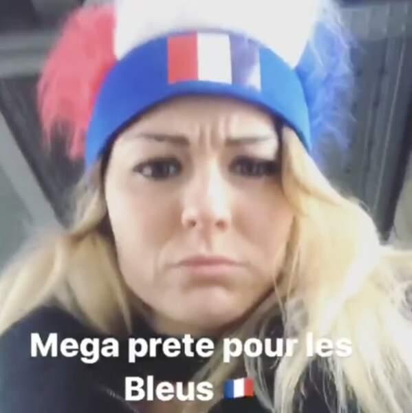 La footballeuse Laure Boulleau, toujours au top quand il s'agit de défendre les couleurs de la France