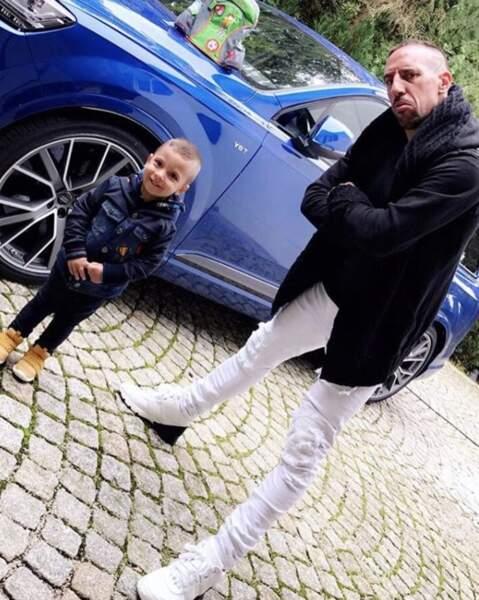 Franck Ribéry a accompagné son fils en grande section de maternelle