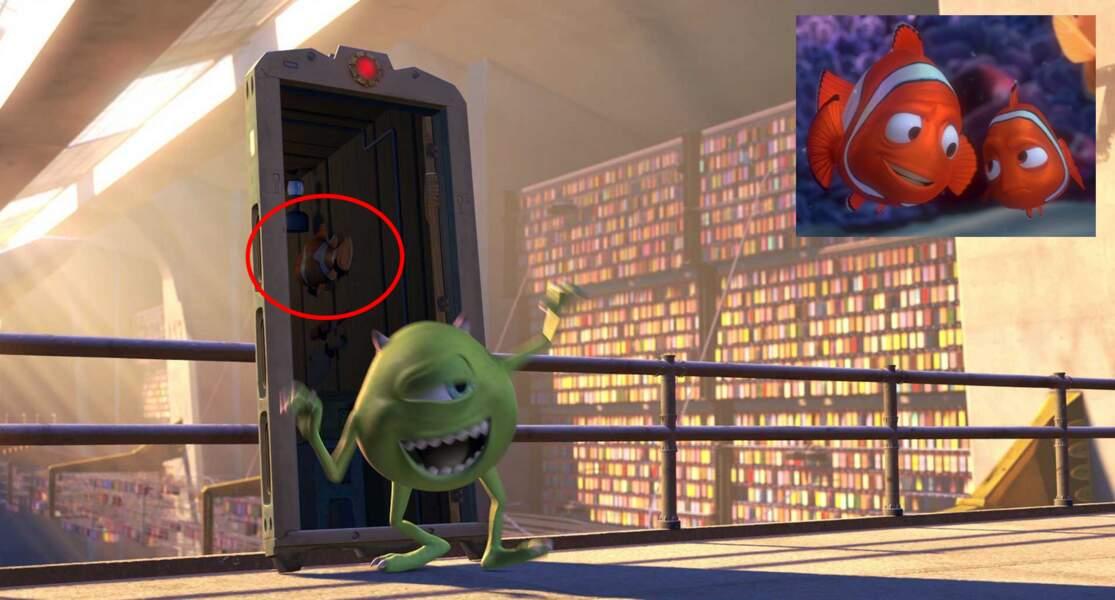 Monstres & Cie : Un petit poisson clown en décoration de porte