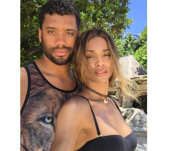 Ciara et son amoureux, le joueur de football américain Russell Wilson.