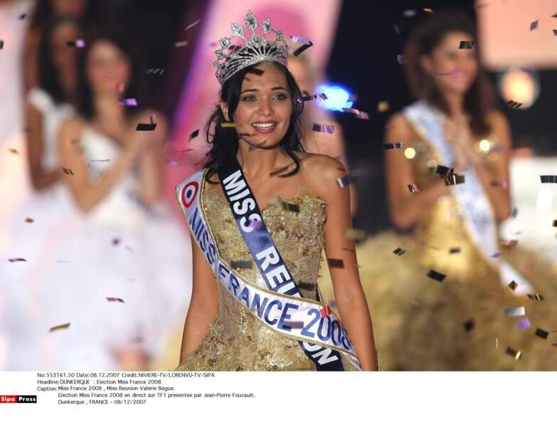 Miss France 2008 : Valerie Bègue (Miss Réunion)
