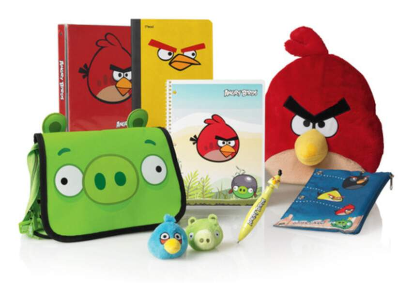 Fournitures scolaires Angry Birds