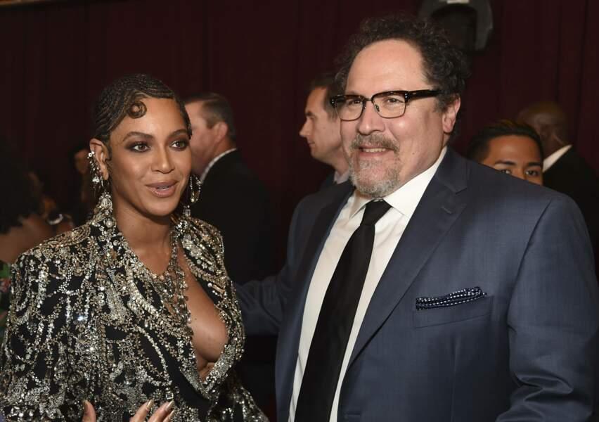 Beyoncé et le réalisateur Jon Favreau